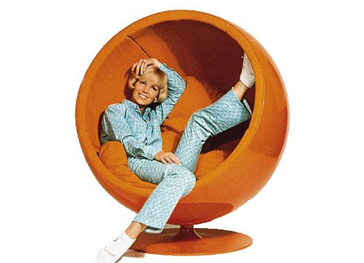 """The 1963 Aarnio ball chair designed by Eero Aarnio is one of the most iconic and comfortable chairs. The chair is sometimes described as a """"room within a room""""."""