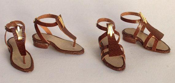 bellissimi attuali sandali estivi in pelle by minifromItaly