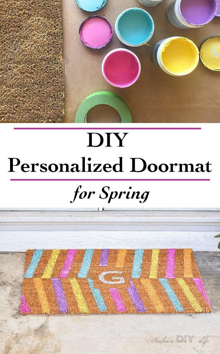 Virtual craft club diy vinyl wood slice sugar bee - Easy Diy Personalized Doormat
