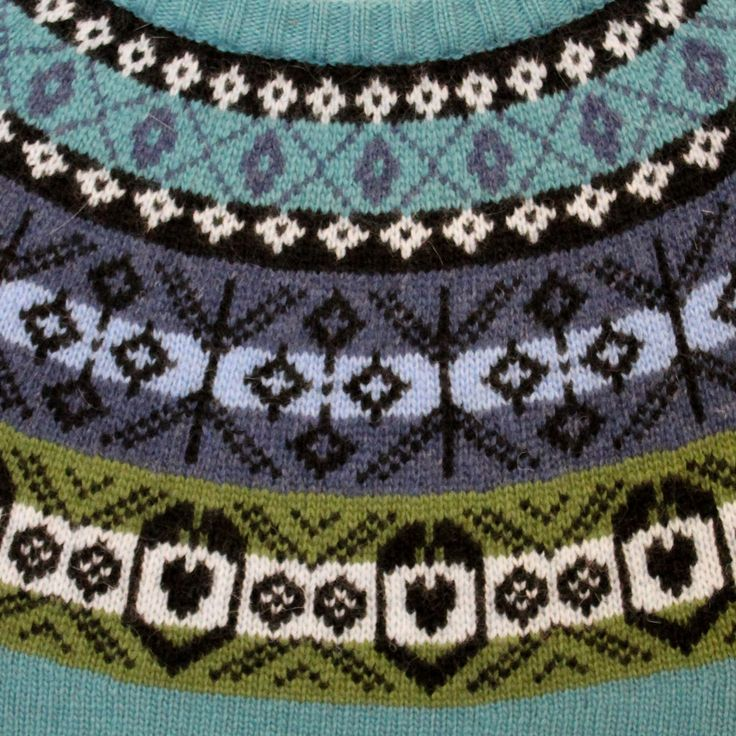 Knit one green, purl one blue...