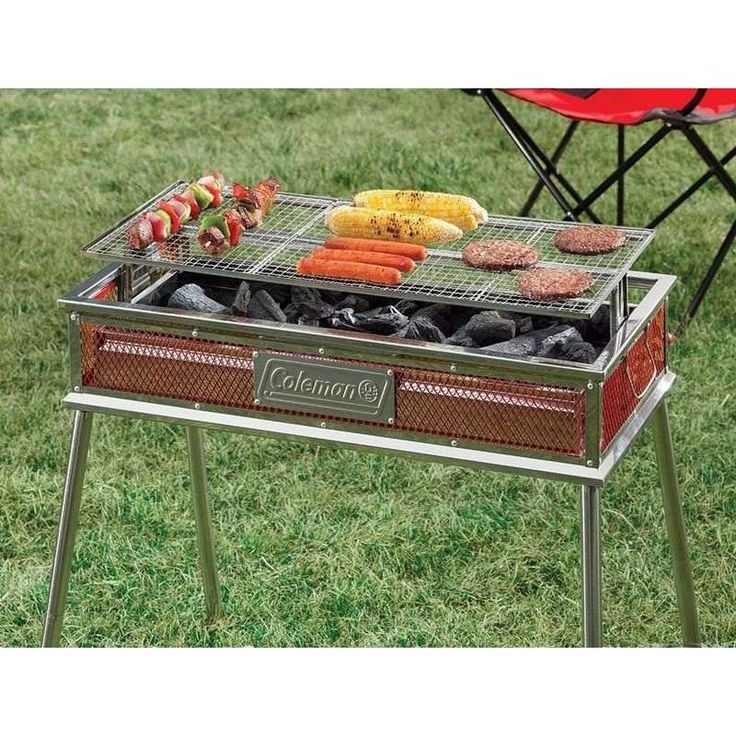 Coleman Steel Outdoor Portable Grill Charcoal BBQ (With