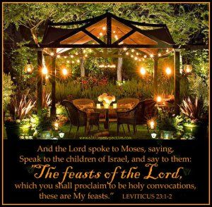 Seven annual feast days bear witness to Messiah Yeshua, when we celebrate them (chiastic structure of the feasts)