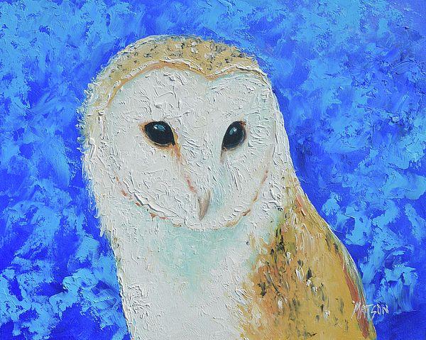 Barn Owl painting  #nurserywalldecor #owlart #animalart