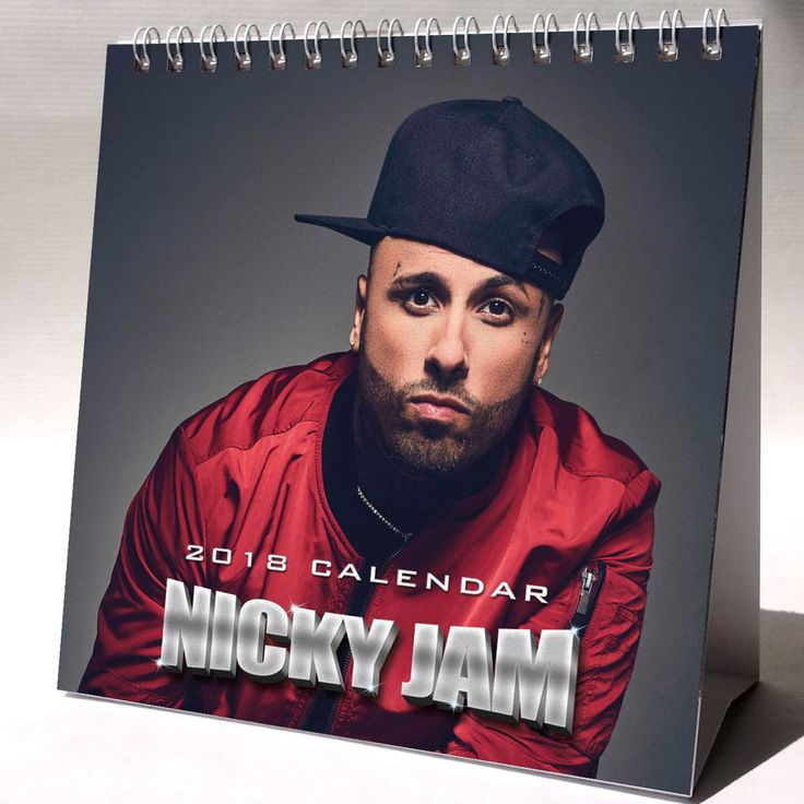 Nicky Jam Desktop Calendar 2018 NEW + FREE GIFT 3 Stickers Hasta el Amanecer
