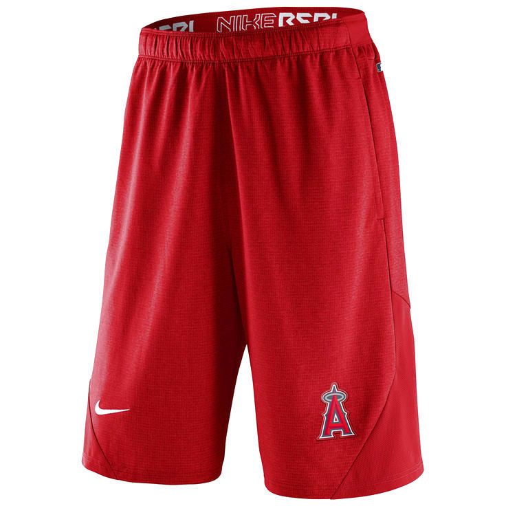 Los Angeles Angels of Anaheim Nike Authentic Collection Dri-FIT Knit Shorts - Red - $38.39
