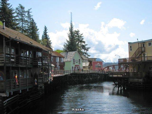A beautiful view of Alaska state.