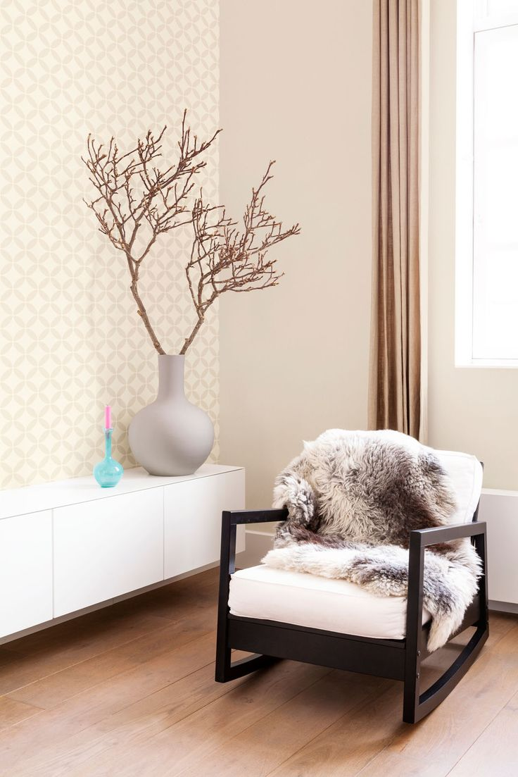 Beige Behang Wallpaper collection Art of Living - BN Wallcoverings