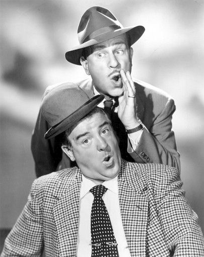 Bud Abbott (10/2/1895 - 4/24/1974) American actor, producer and comedian, and  Lou Costello (3/6/06 - 3/3/59) American actor and comedian.
