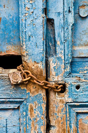 miron abramovici...rusty, chained, turquoise door