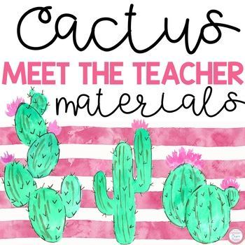 This cactus theme editable meet the teacher night packet includes:* A Sign in Sheet for Parents (3 Versions) * Transportation Sheet and Transportation Slips* Welcome sign tents for Kindergarten-5th grade* School Supply Lists* Website Photo Permission Slip* Teacher Contact Information Cards (2 Versions)* Class Roster Sheet * Parent Volunteer Form* 2 Student Information Sheets* Wish List Cards* Blank Wish List Cards