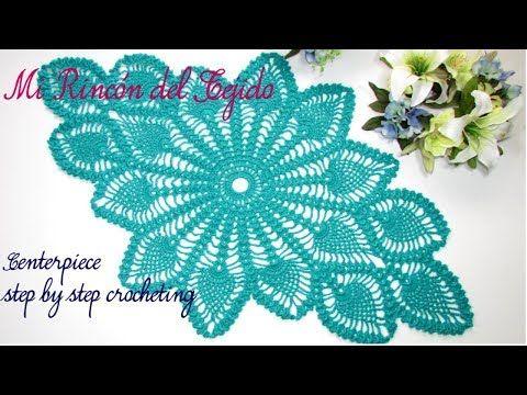 Tutorial paso a paso centro de mesa a crochet - Video tutorial step by step crocheting centerpiece - YouTube