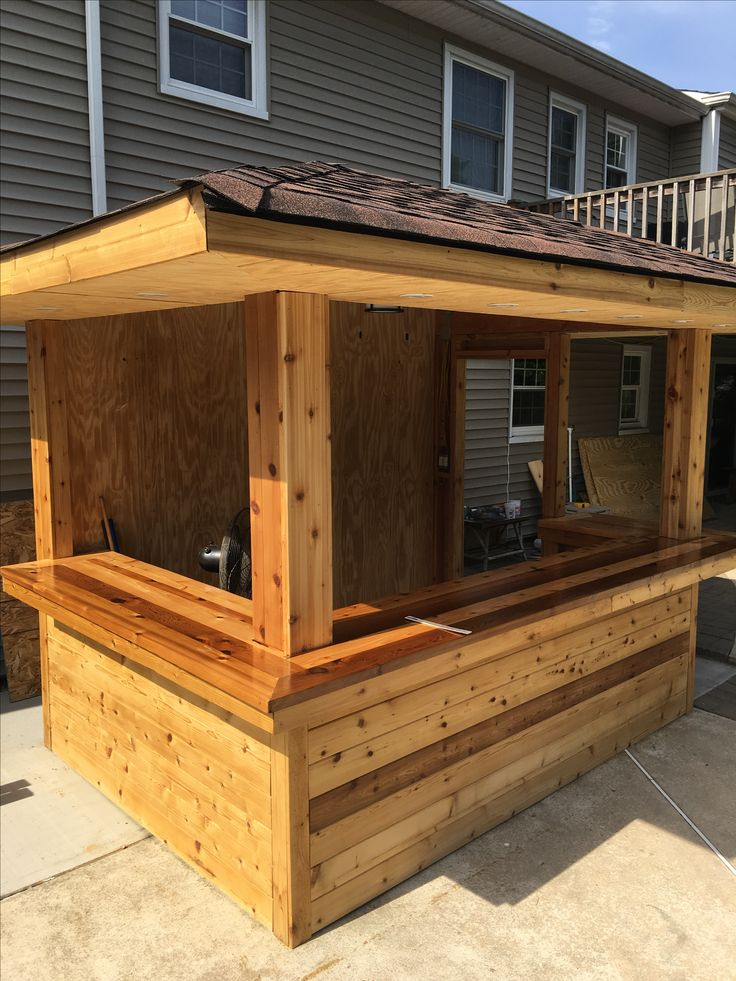 Poolside bar. Outdoor bar. Cedar bar top. | Backyard bar ... on Best Backyard Bars  id=91330