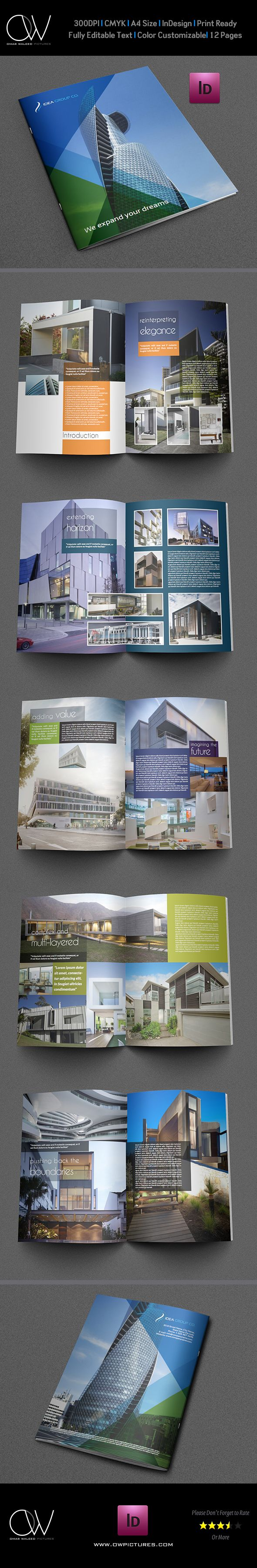 Architectural Brochure Template - 12 Pages by OW Pictures , via Behance