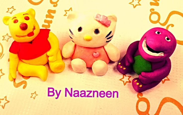 Minnie character sugarpaste toppers by Naazneen