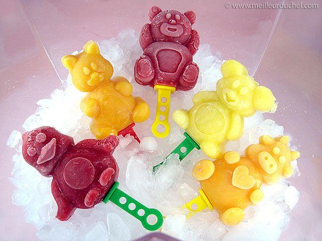 Sucettes glacées aux fruits frais - Meilleur du Chef
