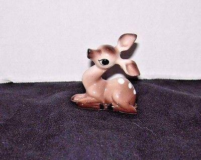 McFarlin pottery FAWN miniature figurine vintage deer