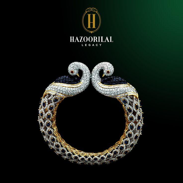 Swan-like grace to adorn the feminine wrist. #HazoorilalLegacy #Hazoorilal #Jewelry #Diamond #Bangle