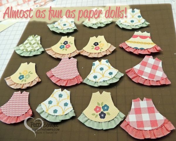 Too Cute! Baby Girl Dresses! Use the Stampin' Up! Owl Builder punch and ruffled…