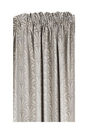 "Our taped jacquard curtain will compliment a feminine interior style. This curtain is block out lined to improve the drape and enhance its appearance with a fuller appeal.<div class=""pdpDescContent""><BR /><BR /><b class=""pdpDesc"">Fabric Content:</b><BR />55% Polyester 45% Cotton<BR /><BR /><b class=""pdpDesc"">Wash Care:</b><BR>Gentle machine wash low heat tumble dry</div>"