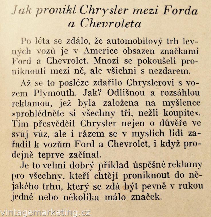 Jak pronikl Chrysler mezi Forda a Chevroleta. #vintagemarketing http://ift.tt/2eqhiFh