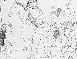Au cirque: Acrobates, Giraffe, Nageuses, 1968.
