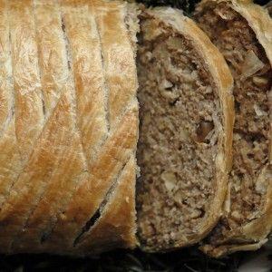 Morsbrød - indbagt vegansk farsbrød/nøddesteg