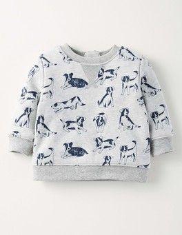 Grey Marl Farm Dogs Cosy Sweatshirt Boden