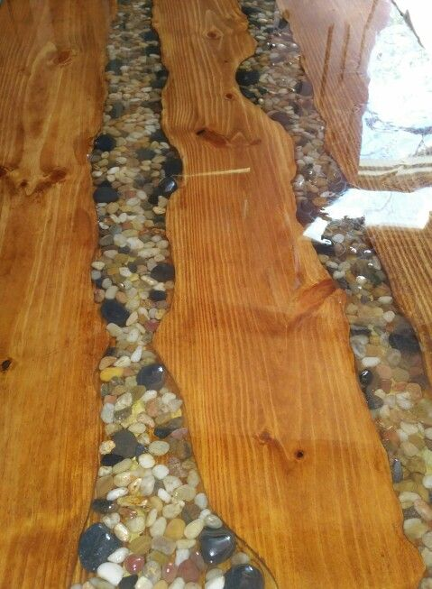 Table Top Made With Resin And Rock Tables Pinterest