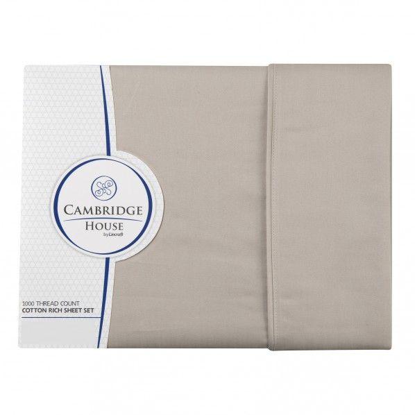 Cambridge House 1000 TC Euro Pillowcase Sets- Linen
