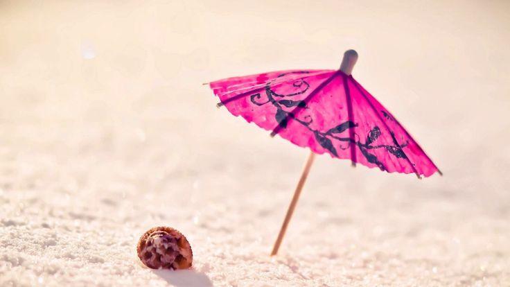 guarda-chuva de papel do petróleo, praia