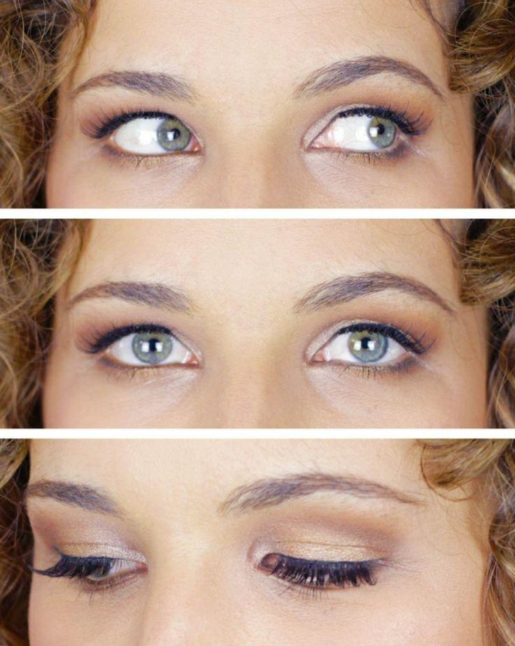 Make-up bei Schlupflidern blaue Augen