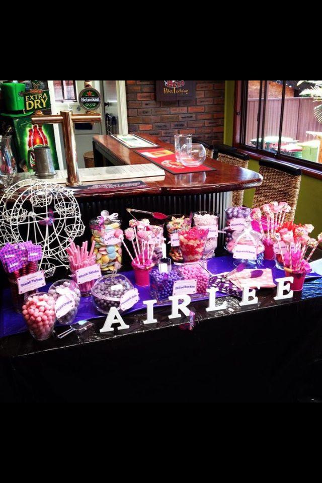 Pink purple candy buffet