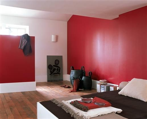 21 best ID déco rouge images on Pinterest Red walls, Home ideas