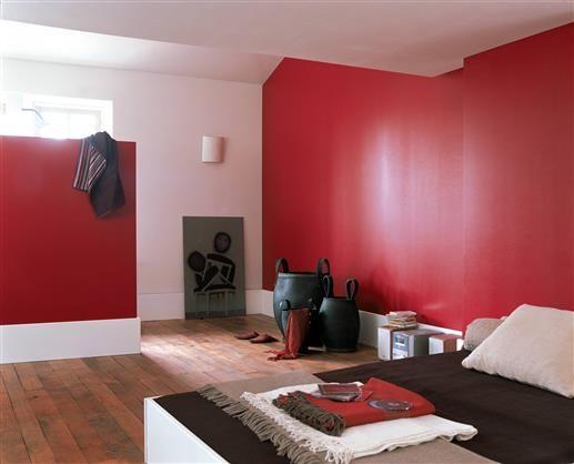 21 best ID déco rouge images on Pinterest Red walls, Home ideas - couleur chaude pour une chambre
