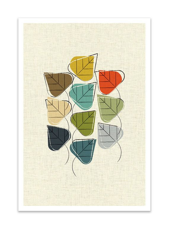 Still In Leaf Giclee Print Mid Century Modern Danish