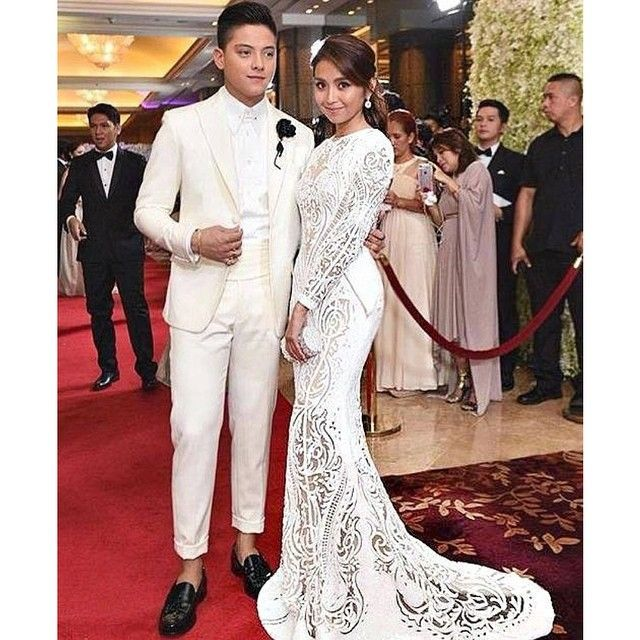 The gorgeous teen star KATHRYN BERNARDO wears a white Michael Cinco couture gown in detailed paillette all made by hand...chosen as Best Dressed  of the Night at the Star Magic Ball...thanks @boopyap @onlyjohnvalle @kpr313 @bernardokath... #couture #cinderella #starmagicball #kathrynbernardo #dubai #mydubai #madeindubai #michaelcinco...