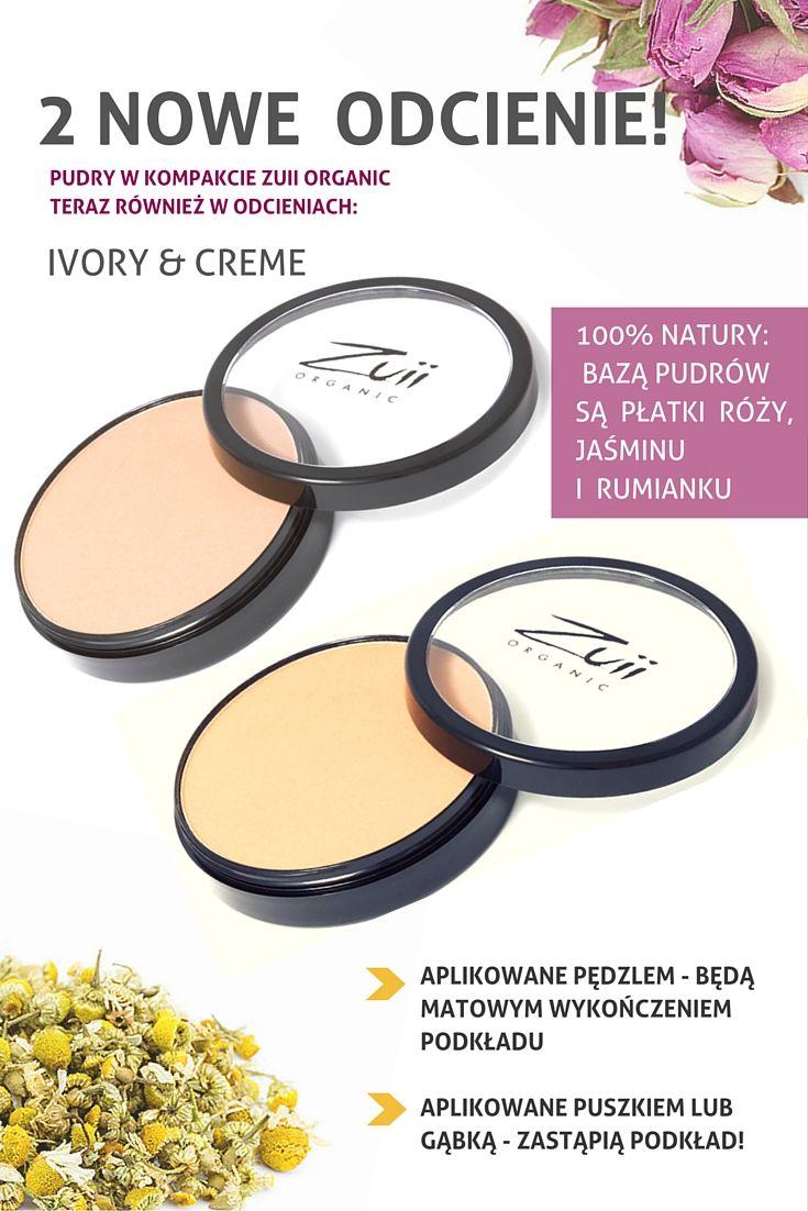 2 nowe odcienie pudrów Zuii Organic: Ivory & Creme