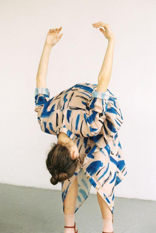 Heinui - LENNY dress in Strokes print
