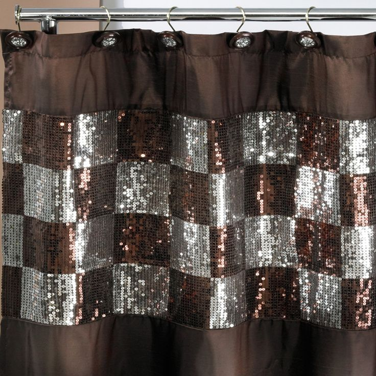 gold and brown shower curtain. Elegant Shower Curtain and Hooks  Overstock Shopping Starting at 17 99 Great Deals Best 25 shower curtains ideas on Pinterest Double