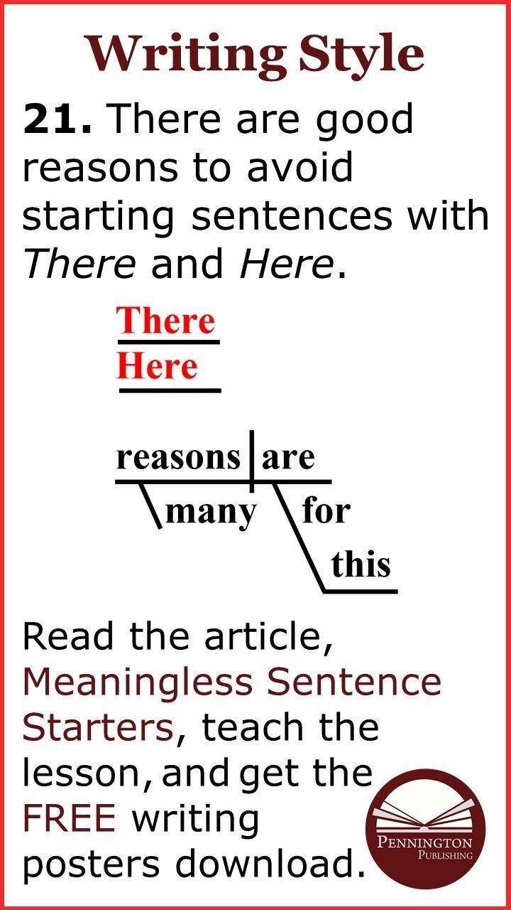 Meaningless Sentence Starters Pennington Publishing Blog Writing Response Writing Lessons Writing Curriculum [ 1280 x 720 Pixel ]