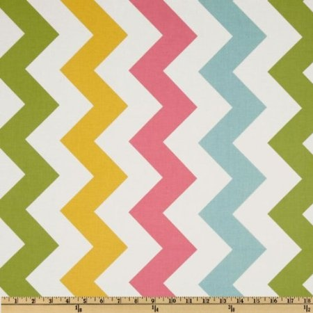 Amazon.com: 44'' Wide Riley Blake Chevron Large Pink/Girl Fabric By The Yard: Arts, Crafts & Sewing