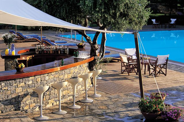 #Lounges #Elounda : #Poseidon #Pool #Bar at #Elounda_Bay_Palace