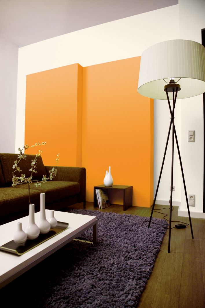 wohnzimmer orange braun. Black Bedroom Furniture Sets. Home Design Ideas