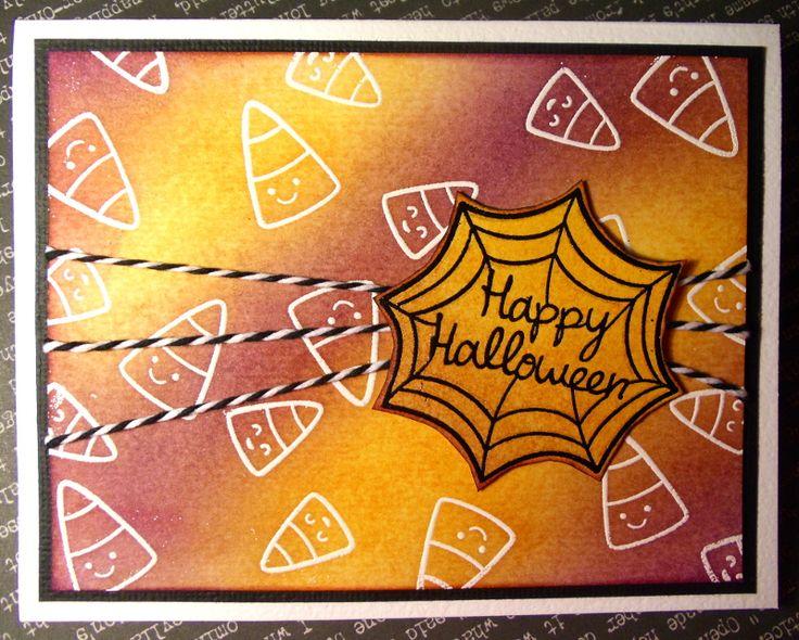 """Halloween steht vor der Türe - passend dazu ein paar schnelle Halloween Karten mit den Lawn Fawn Stempelset """"Trick or Treat"""" und """"Heebie Jeebies"""""""