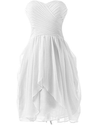 Dress U Womens Ruched Bridesmaid Dress Short Prom Dresses White US 2 Dress U http://www.amazon.com/dp/B00V7WKXVQ/ref=cm_sw_r_pi_dp_vg2Yvb0CDD0R0
