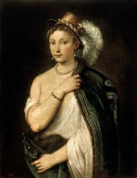 Portrait d'une femme, Tiziano Vercellio dit Titien