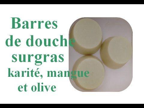 Barres de douche surgras karité, mangue et olive