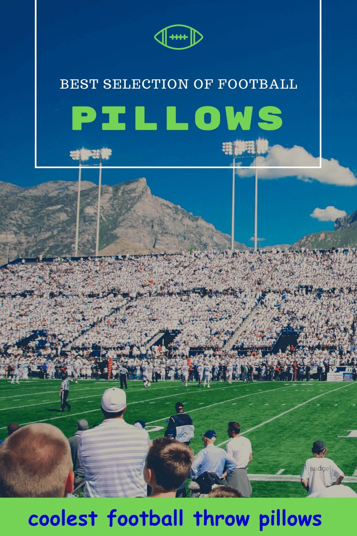Beautifully made pillows with football theme to decorate any room. Selection of leather formal throw pillows and many fun designs, too! #pillows #homedecor #football #decorateroom AFFILIATE LINK