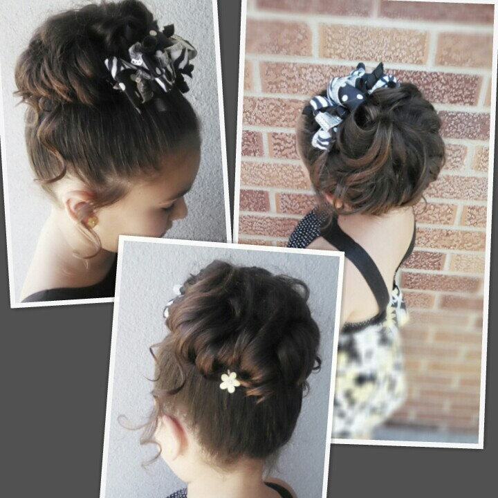 Wedding Hair For Little A Tiara Look Only W Pea Feathers And