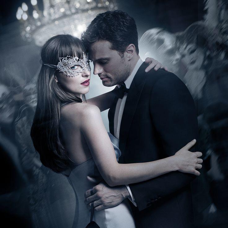 Jamie Dornan as Christian Grey and Dakota Johnson as Anastasia Steele slip into something a shade darker.   Fifty Shades Darker Movie   In theaters February 10.
